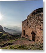 Ruins Of A Stone Building  Corinth Metal Print