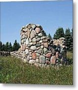 Ruins Of A Stone Silo Metal Print