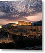 Ruins Of A Temple, Athens, Attica Metal Print
