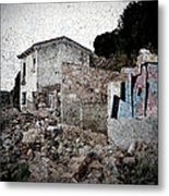 Ruins Of An Abandoned Farm House Metal Print