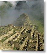 Ruins Of Machu Picchu Peru Metal Print