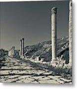 Ruins Of Roman-era Columns Metal Print