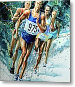 Run For Gold Metal Print
