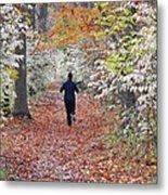 Run Through The Woods Metal Print