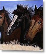 Run With Endurance Metal Print by Kat Poon