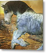 Run With Me Sunrise Metal Print by Betsy Knapp