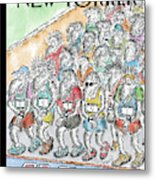 Runners Gather At The Starting Line Metal Print