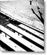 Runner's Shadow Metal Print