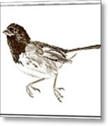 Running Bird Metal Print by Susan Leggett