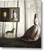 Running For Her Life Metal Print