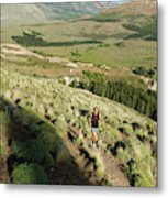 Running In Esquel, Chubut, Argentina Metal Print