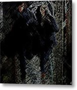 Running In The Shadows Metal Print