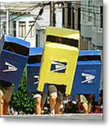 Running Mail Boxes Metal Print
