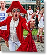 Running Of The Bulls New Orleans Matador Metal Print