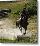 Running Thru Water  Metal Print
