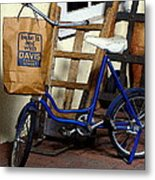 Running To The Store Metal Print