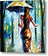 Running Towards Love - Palette Knife Oil Painting On Canvas By Leonid Afremov Metal Print