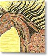 Running Wild Horse Metal Print