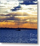 Running With The Light Metal Print