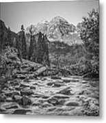 Runoff  Bw Metal Print