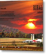 Rural Barns  My Book Cover Metal Print