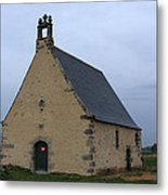 Rural Church In Brittany Metal Print