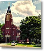 Rural Church Usa Metal Print