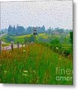 Rural Highway In Oil Paint Metal Print