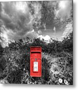 Rural Post Box Metal Print by Mal Bray