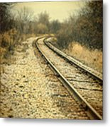 Rural Railroad Tracks Metal Print