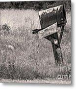 Rural Route Mail Call  Metal Print