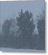 Rural Snowfall Metal Print