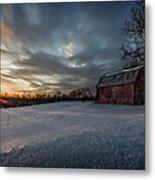 Rural Sunset Metal Print