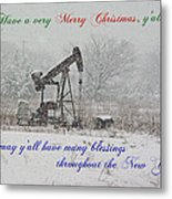 Rural Texas Christmas Metal Print