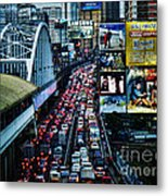 Rush Hour Manila Philippines Metal Print
