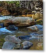 Rushing Mountain Stream Metal Print