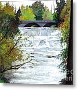 Rushing Water - Quiet Thoughts Metal Print