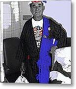 Russell Short Celebrating July 4th Tucson Medical Center Tucson Arizona 1990 Metal Print