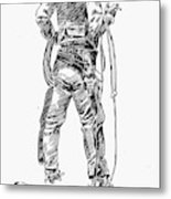 Russell The Cowboy Metal Print