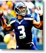 Russell Wilson Smooth Delivery Metal Print