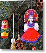 Russian Christmas Tree Decoration In Fredrick Meijer Gardens And Sculpture Park In Grand Rapids-mi Metal Print