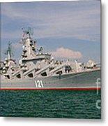 Russian Cruiser Moskva Metal Print