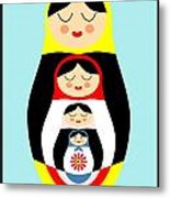 Russian Doll Matryoshka Metal Print