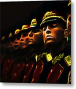 Russian Honor Guard - Featured In Men At Work Group Metal Print