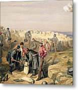 Russian Rifle Pit , Plate From The Seat Metal Print