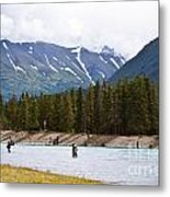 Russian River Ak Metal Print by Chris Heitstuman