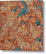 Rust Abstract Metal Print