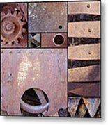 Rust And Metal Abstract  Metal Print