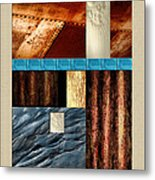 Rust And Rocks Rectangles Metal Print