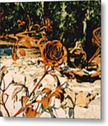 Rust And Roses Metal Print